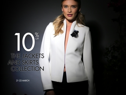 10% off the entire jackets & skirts collection