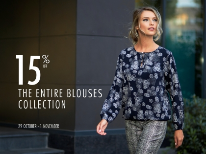 15% off all blouses