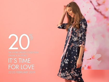 20% off the entire dresses collection