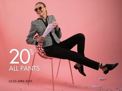 20% off the entire pants collection
