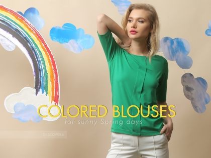 Colored blouses