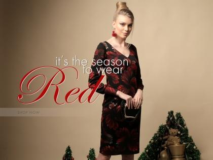It's the season to wear red
