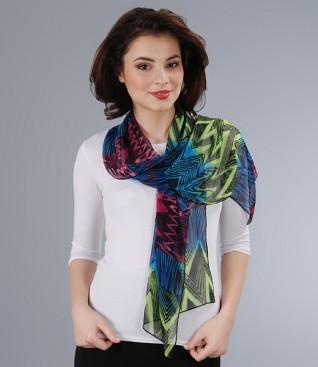 Printed crepe veil scarf
