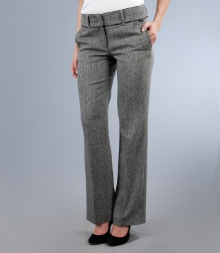 Office trousers from tweed with pockets