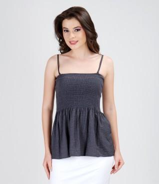 Blouse-skirt with elasticized waist
