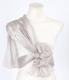 One color organza wrap