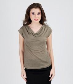 Flax jersey t-shirt