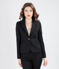 Office jacket from elastic fabric
