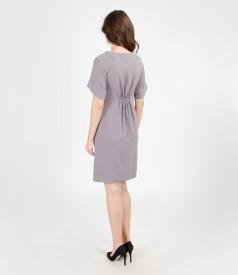 Elastic veil dress with sleeves