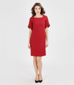 Elastic veil dress with sleeves