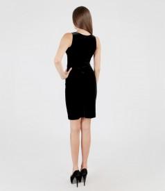 Elastic velvet dress