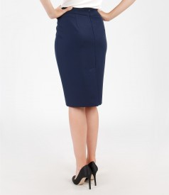 Elastic fabric skirt with cord