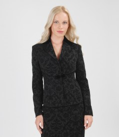 Elastic fabric jacket with velvet