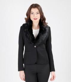 Natural fur collar