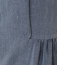 Elastic fabric skirt with pleats