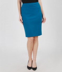 Thick elastic jersey skirt