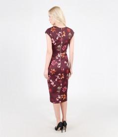 Printed elastic jersey dress