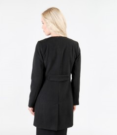 Black coat with pockets