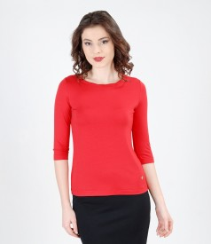 Jersey t-shirt with trim