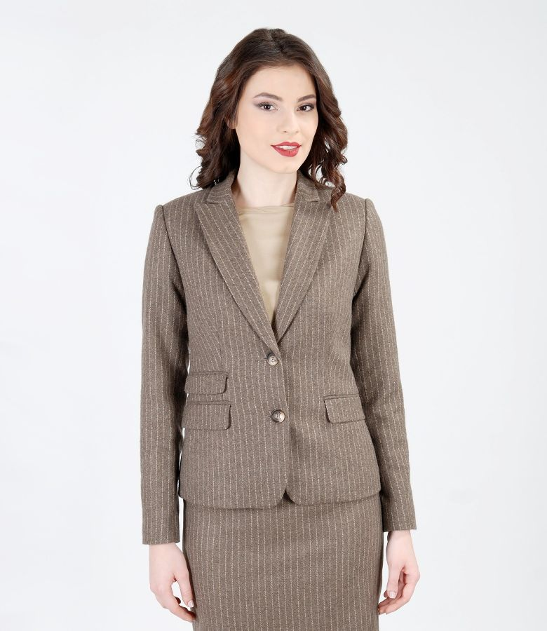 Office jacket with organic wool and cotton