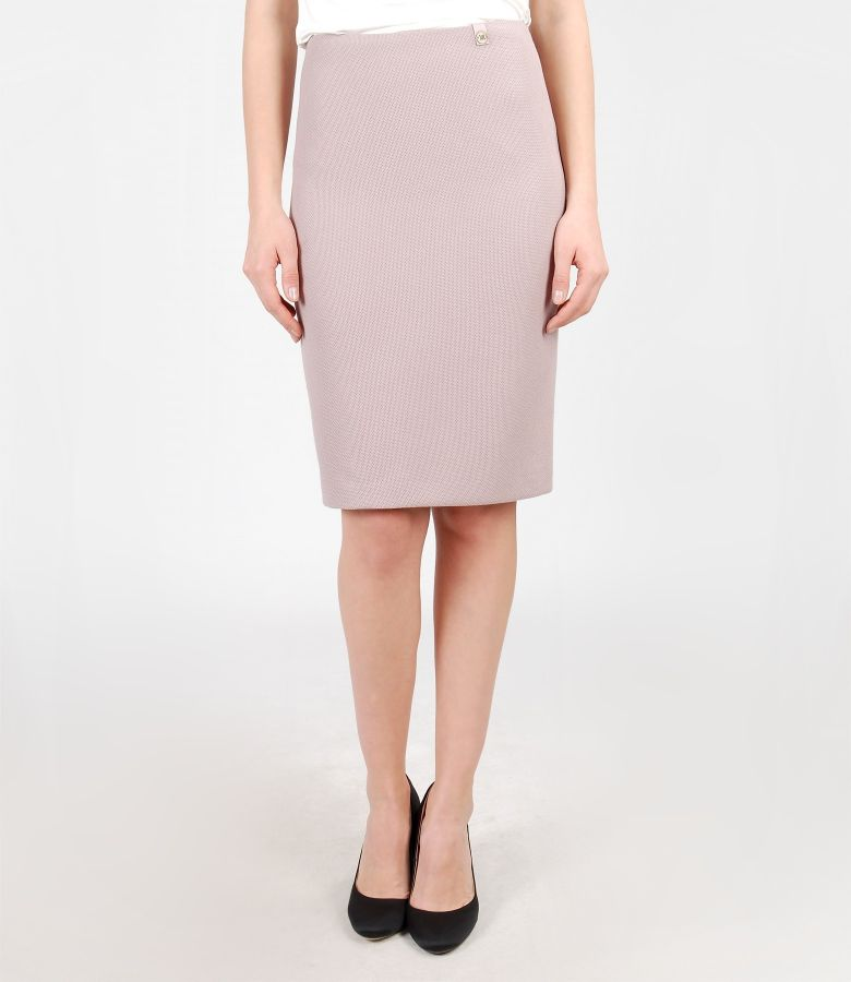 Office skirt from elastic fabric