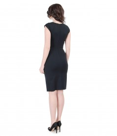Elastic jersey dress with folds