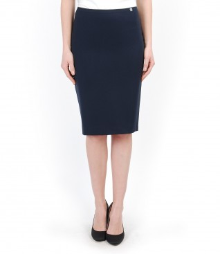 Elastic fabric office skirt