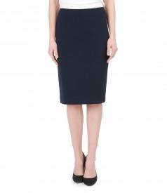 Elastic fabric office skirt