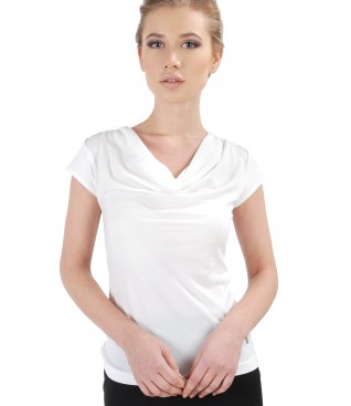Jersey t-shirt with folds
