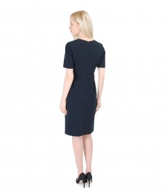 Elegant dress from elastic fabric with metal targets