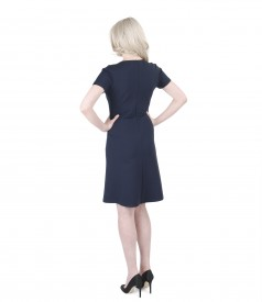 Flaring dress from thick elastic jersey