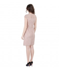 Lace dress with fins