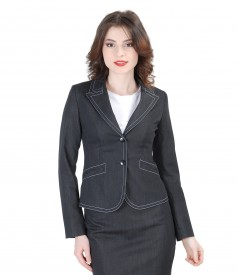 Elastic cotton jacket with stitches