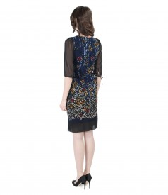 Elegant brocade dress with velvet