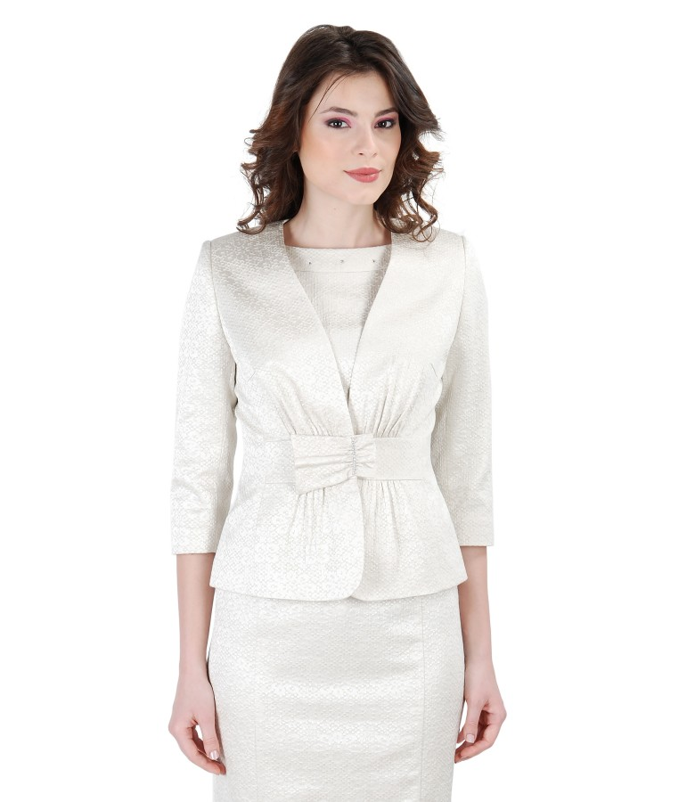 Elegant jacket from elastic brocade cotton