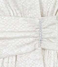 Elegant jacket from elastic brocade cotton
