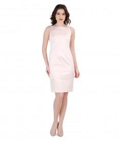 Elegant dress from elastic brocade cotton