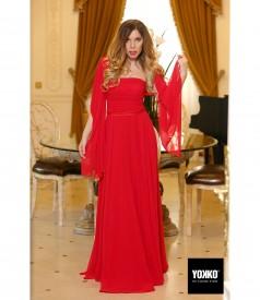 Long evening veil dress