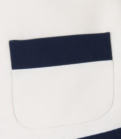 Elegant bolero with pockets and trim