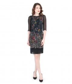 Elegant brocade dress with velvet