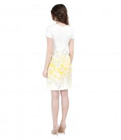 Elastic brocade dress with pockets