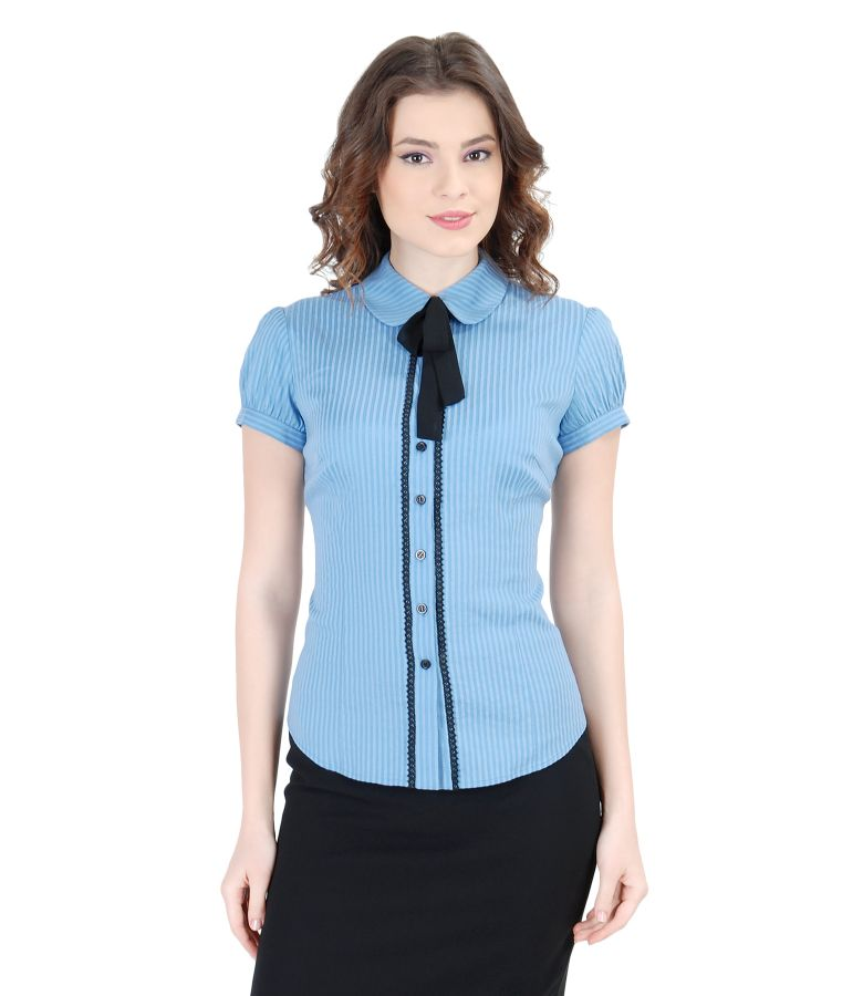 Office shirt with veil bow