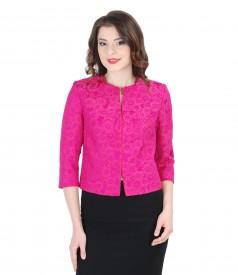 Elegant brocade jacket with floral patterns