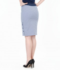 Printed elastic cotton skirt