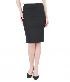Elegant elastic cotton skirt
