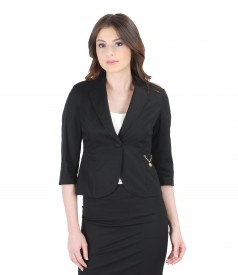 Elastic cotton jacket with accessory
