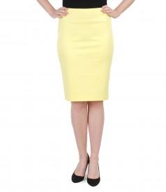 Elegant elastic cotton skirt