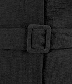 Elastic cotton office jacket with cord