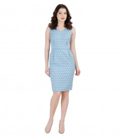 Dress with elastic brocade cotton