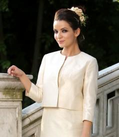 Elegant jacket from silk taffeta